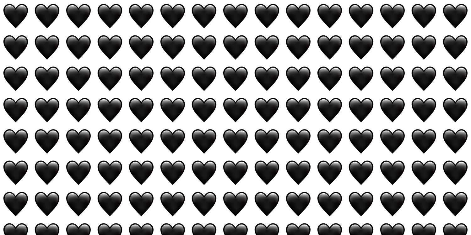The black heart emoji is here for all your goth needs