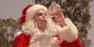drinking, christmas, santa, booze, binge drinking