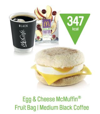Egg and cheese mcmuffin under 400 calories