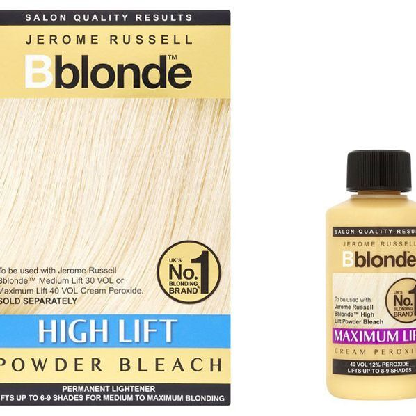Here's a dye that REALLY works - it's a powder and a cream combo that you mix together, and it turns even dark brown hair blonde. Darker shades should opt for the maximum lift cream, while blondies who are just trying to get whiter could go for the medium option.