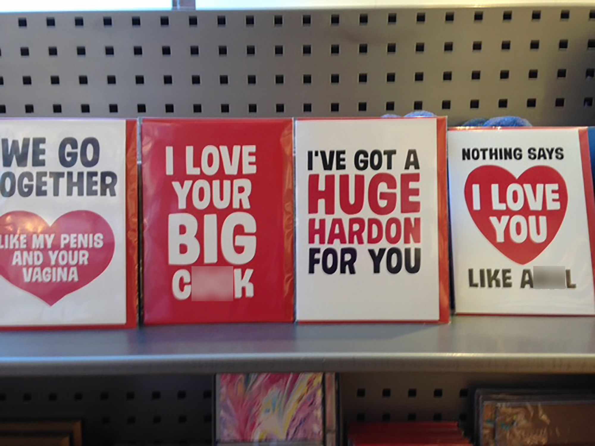 Paperchase Is Under Fire For X Rated Valentine S Cards Displayed Next To Kids Stationery