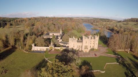 Landscape, Natural landscape, Plain, Land lot, Landmark, Bank, Garden, Aerial photography, Castle, Bird's-eye view,