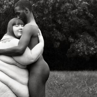 Nudist fat couple, the guy who ran nude