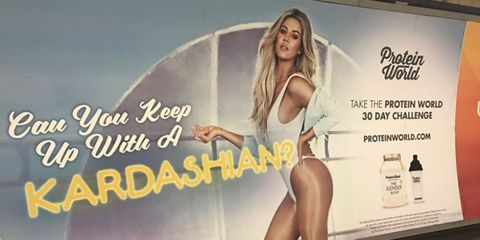 Twitter accuses Protein World's Khloe Kardashian posters of body shaming