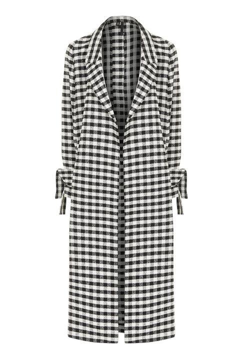 Clothing, Dress shirt, Collar, Sleeve, Textile, Coat, White, Pattern, Style, Line,