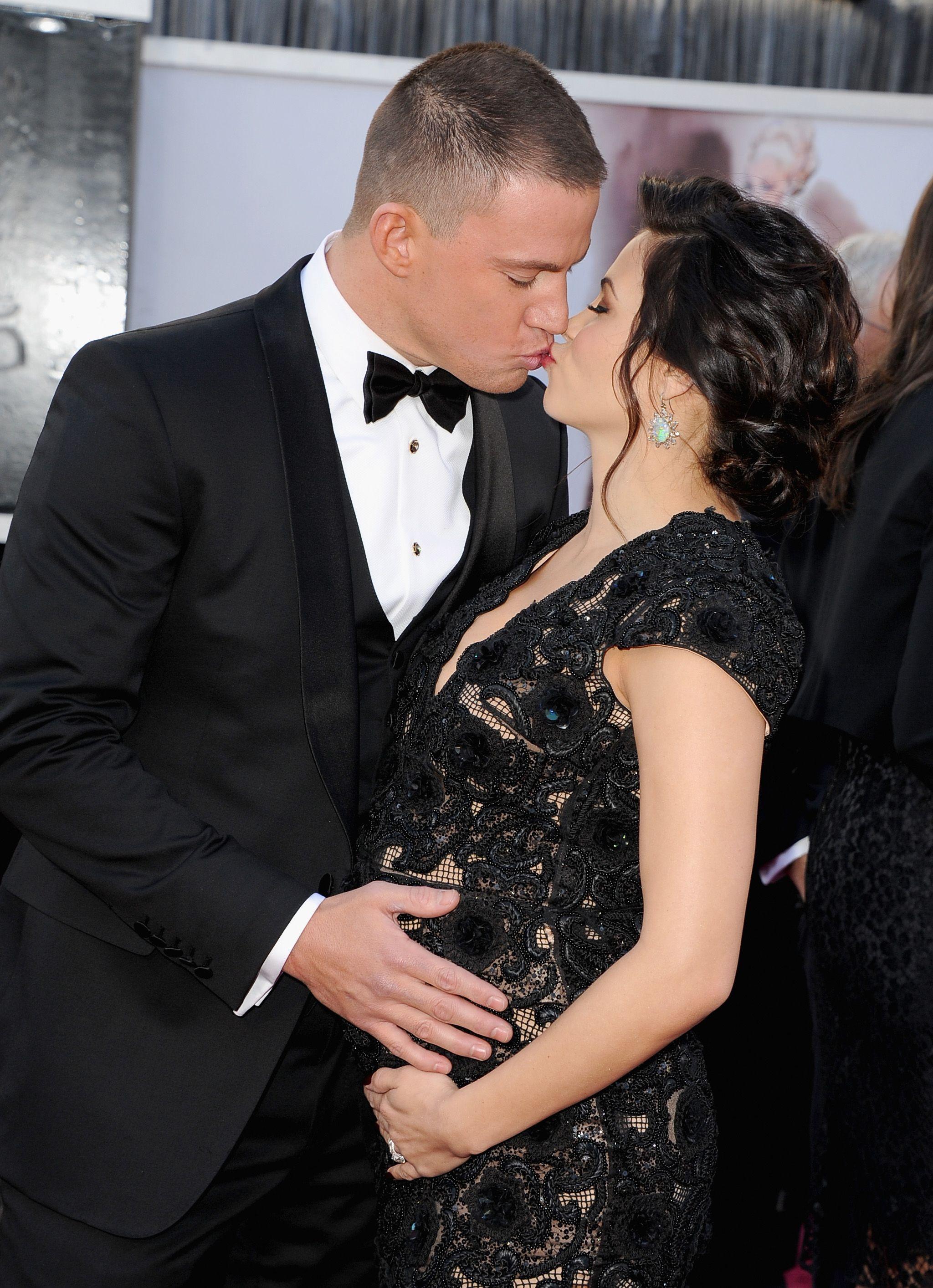 Channing Tatum and Jenna Dewan Tatum at the Oscars