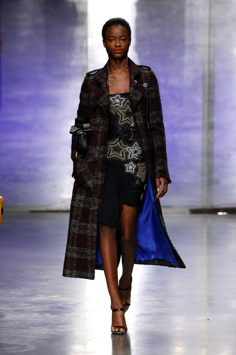 Clothing, Fashion show, Human body, Shoulder, Runway, Joint, Outerwear, Fashion model, Dress, Style,