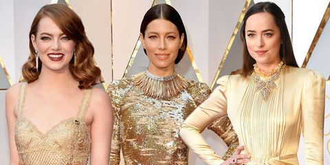 Celebrities dressed as Oscars at the 2017 awards