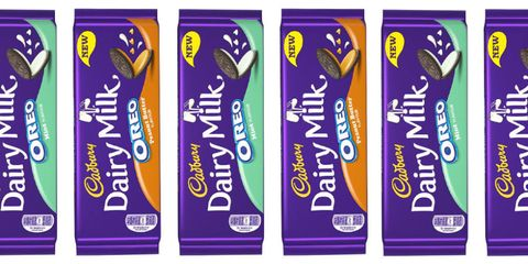 Cadbury launch peanut butter and mint Oreo bars and we're dribbling