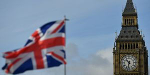 Union Jack flag, Houses of Parliament