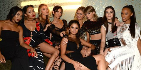 Taylor Swift and her squad at the VMAs