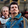 <strong><p>Three Musketeers (Orlando Bloom, Milla Jovovich, Logan Lerman)</p></strong>