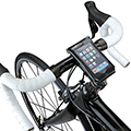 <p>Are you one of those people who gets a bit freaked out if you can't see your mobile at all times? Then you might need one of these - a handy iPhone holder to mount your phone on the front of your bike. Make sure you stay aware of the road though! </p>