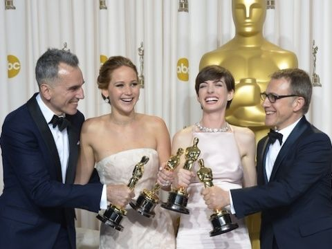 """<p>Last night, we saw some of the biggest names in Hollywood walk the red carpet at the Oscars 2013. But, no matter how <a title=""""Oscars 2013 red carpet"""" href=""""http://www.cosmopolitan.co.uk/celebs/entertainment/the-oscars-red-carpet-pics-fashion-and-sexy-men"""" target=""""_blank"""">gorgeous the dress</a> or how <a title=""""Oscars beauty"""" href=""""http://www.cosmopolitan.co.uk/beauty-hair/news/styles/celebrity/oscars-2013-red-carpet-celebrity-hair-and-beauty"""" target=""""_blank"""">perfect the makeup</a>, this prestigious film ceremony is all about the acting talent. Seriously.</p> <p>Join us as we celebrate the winners of the Oscars 2013...</p>"""