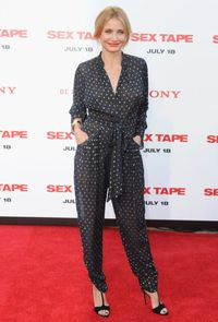 <p>Comfortable fashion is SO in. Don't believe us? Just check out how cosy <em>and</em> great Cameron Diaz looks in this spotty jumpsuit.</p>