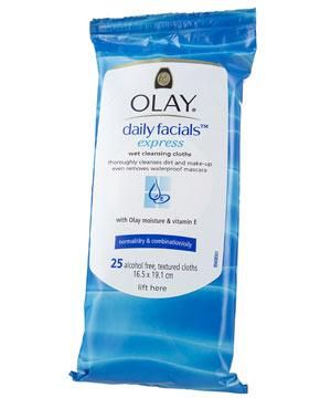 "<strong>OLAY DAILY FACIALS EXPRESS, £4.49 FOR 25</strong><br /><br />•  These unique, lightly textured sheets promise to lift dirt and make-up.<br /><br /><strong>COSMO'S VERDICT:</strong><br />"" At first, I thought these cloths weren't moist enough but they shifted all my makeup and I didn't need moisturiser afterwards.""<br />9/10"