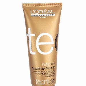 "<p>•   <strong>LOréal Professional Tecni.Art Hair Mix Smooth Nutri-Smoothing Cream For Dry Hair, £11.50</strong></p><p>""When hair is 95% dry, style it in sections using a medium-sized round brush and a nozzled dryer. ""  </p>"