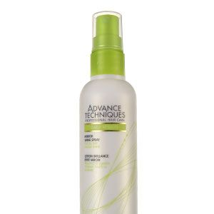 "<p>•   <strong>Avon Advance Techniques Mirror Shine Spray, £3.50</strong></p><p>""After washing, smooth down unruly hair by applying a serum from the mid-lengths to the ends, running it through with a wide-toothed comb. then blow-dry hair from wet, using a large bristle brush to ensure sleekness.""   </p><p> </p>"