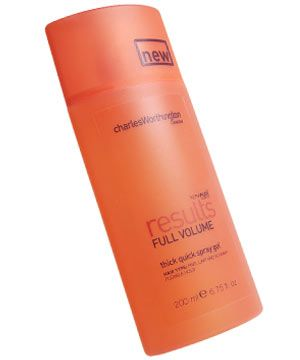 "•   <strong>Charles Worthington Results Full Volume Thick Quick Spray Gel, £3.99</strong> Contains keratin to add oomph and strengthen your strands. <br /><br /><strong>COSMO'S VERDICT:</strong> ""The gel consistency of this spray made it easy to get the product right into my roots. Be sparing or it'll make your hair sticky."" <strong>7/10</strong>"