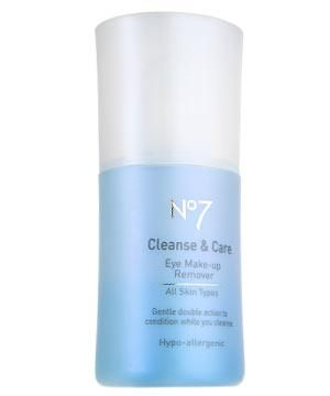 """<strong>NO7 CLEANSE & EYE CARE EYE MAKE-UP REMOVER, £6 </strong>Contains panthenol and glycerine to condition lashes as you cleanse.<br /><br /><strong>COSMO'S VERDICT: </strong>"""" This gentle lotion did seem to soften my lashes but it also left me with huge panda eyes that needed mopping."""" <strong>8/10</strong>"""