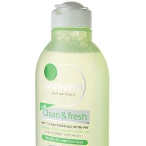 """<strong>GARNIER SKIN NATURALS CLEAN & FRESH GENTLE EYE MAKE-UP REMOVER, £3.79 </strong>This non-oily lotion promises to remove even waterproof mascara.<br /><br /><strong>COSMO'S VERDICT:</strong> """"With a little pressure it cleansed everything, but it may be too harsh for dry skin.""""<strong> 7/10</strong>"""