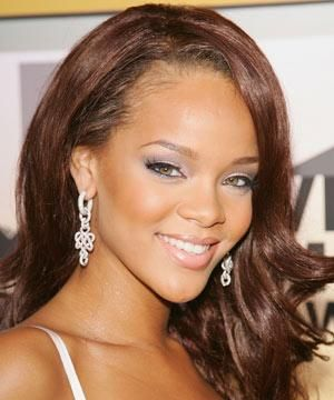 """""""For Rihanna's flawless complexion, opt for a base with good coverage. I love <strong>RUBY & MILLIE LIQUID BASE IN 9, £16.</strong> Follow this by dabbing a little concealer. like <strong>BOBBI BROWN CREAMY CONCEALER IN CHESTNUT, £15,</strong> around your eyes, nose and on any blemishes.""""<br /><br />•   <strong>RUBY & MILLIE CHEEK COLOUR IN BROWN, £10.50,</strong> looks great on darker skin tones. Dust it along your cheekbones, a small amount at a time, and soften the edges with loose powder.""""<br /><br /><br />"""
