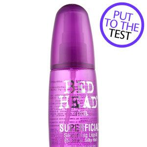"<p><strong>1. Bed Head Tigi Superficial Smoothing Liquid, £12.75.</strong></p><p>Promises to mend your ends and leave hair shiny and smooth.</p><p><strong>COSMO'S VERDICT: </strong>""For once, a non-oily frizz tamer that doesn't weigh down fine hair too much. A spritz onto damp ends kept most of my flyaways under control."" <strong>8/10 </strong><br /></p>"