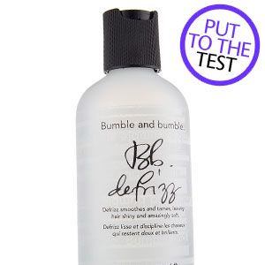 "<p><strong>3. Bumble And Bumble Defrizz, £10.50</strong></p><p>This humidity-proof barrier will calm wayward hair, leaving it silky.</p><p><strong>COSMO'S VERDICT:</strong> ""This is a bit more expensive than I would normally pay but it's light, easy to use and helped keep my frizz-ball hair sleek all day."" <strong>9/10 <br /></strong></p>"