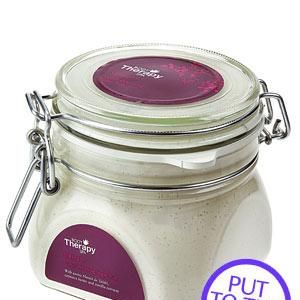 """<p><strong>1. Tesco Body Therapy serenity Lurur Warming Sugar Rub, £5.99. </strong></p><p>A self-heating scrub to soften and exfoliate your skin. <strong>COSMO'S VERDICT:</strong> """"The putty texture was initially off-putting, but it smoothed my flaky shins."""" <strong>8/10</strong><br /></p>"""