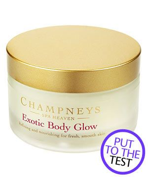 """<p><strong>2. Champneys Spa Heaven Exotic Body Glow, £10.</strong></p><p>This tropical, sugary scrub will soften the scaliest skin. <strong>COSMO'S VERDICT:</strong> """"This divine scrub not only whipped off my dry skin but it whisked me away to an island paradise too."""" <strong>9/10 </strong></p>"""