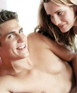 If you have long hair, leave it down, so that it lightly brushes his belly while you go down on him.  <br /><br />