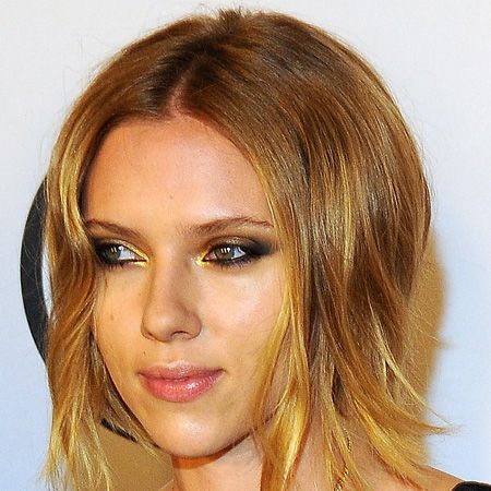 Hot on Keira Knightley's heels, Scarlett Johansson has also gone short and sweet. Her choppy golden bob is graduated so it's shorter at the back and longer at the front, cleverly shaping her heart-shaped face