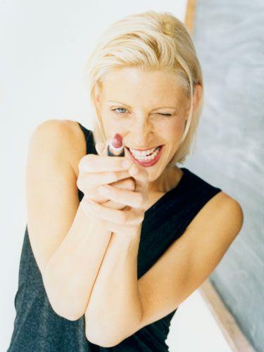 Finger, Lip, Shoulder, Elbow, Neck, Wrist, Tooth, Blond, Makeover, Nail,
