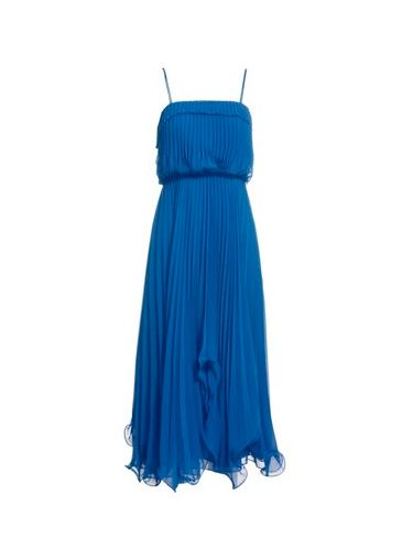 """<p>Scalloped edges and all over pleats. This blue wonder is wedding season perfect</p><p>£120, <a href=""""http://www.monsoon.co.uk/new-dresses/eves-dress/invt/85329361/""""target=""""_blank""""> monsoon.co.uk </a></p>"""