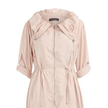 <p>Who wouldn't blush to perfection wearing this pastel pink drawstring parka from Dorothy Perkins'? Its spring cover-up perfect</p>