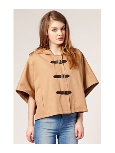 <p>Wrap yourself in this buckle-fastening beige cape from Asos. The couture style buckle detailing is just gorge!</p>