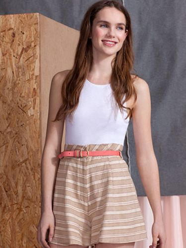 <p>ASOS Africa is back and this season theyíve teamed up with cool designer Jessica Ogden. The collection is produced in Kenya to support the work of SOKO and profits go towards promoting sustainability in the area. We love these A-line summary shorts</p>