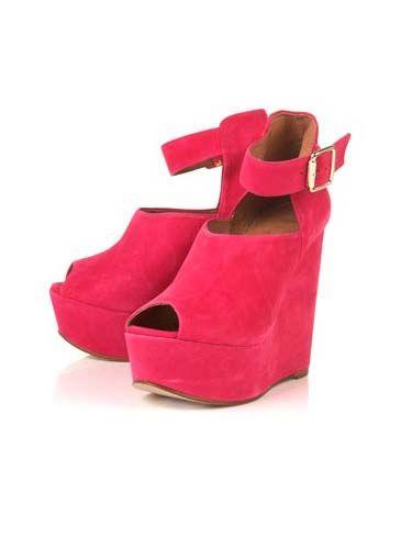 Brown, Sandal, Carmine, High heels, Wedge, Maroon, Tan, Beige, Leather, Strap,