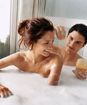 Bathe by candlelight in a warm room to soothe the senses. Avoid a hot bath, which will raise your blood pressure. Pour in bath foam or throw in three or four camomile teabags.