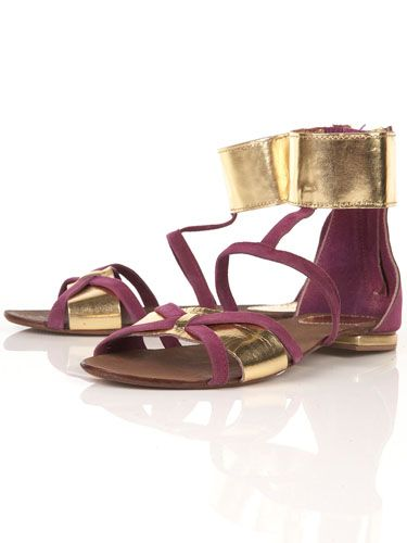 """<p>With their metallic ankle cuffs, these Topshop sandals are seriously on trend. Wear with a neutral shift to rock that Roman look</p><br/>£46, <a href=""""http://www.topshop.com/webapp/wcs/stores/servlet/ProductDisplay?beginIndex=0&viewAllFlag=&catalogId=33057&storeId=12556&productId=2361548&langId=-1&sort_field=Relevance&categoryId=208543&parent_categoryId=208492&pageSize=200""""target=""""_blank"""">topshop.com</a>"""