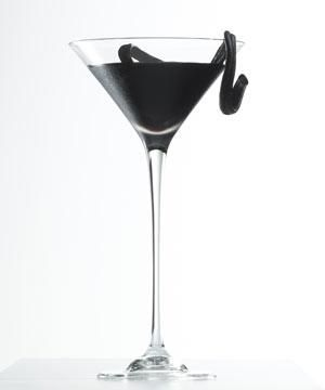 Inspired by <strong>Gareth Pugh</strong>, is a unique blend of the finest coffee and liquorice liquors combined with dark rum resulting in a cocktail of pure black elegance. Finished with a unfurled liquorice wheel, this winds organically around a long stemmed martini glass reminiscent of a runway model's statuesque poise.<br /><br />