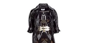 """<strong>1.</strong><br />""""Mmmm, black shiny leather, I hear you say. Think rock chick as opposed to biker babe and show off that booty with this short-length, waisted jacket.""""<br /><br />Jacket, £75, Topshop<br />Dress, £90, Mango<br />Jeans, £45, Mexx<br />"""