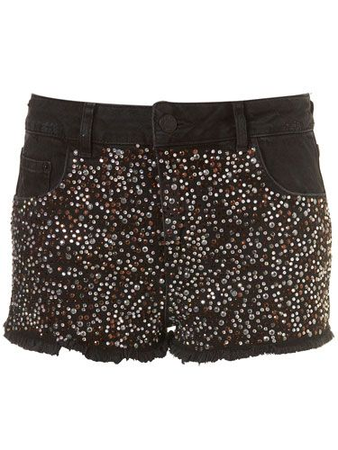 "<p>Our mouth is watering looking at these sparkly studded hotpants. Rock with a printed tee, biker boots and a bold lippy</p>   <p>£75, <a href=""http://www.topshop.com/webapp/wcs/stores/servlet/ProductDisplay?beginIndex=0&viewAllFlag=&catalogId=33057&storeId=12556&productId=2602402&langId=-1&sort_field=Relevance&categoryId=277012&parent_categoryId=208491&pageSize=20 "" target=""_blank"">topshop.com</a></p>"
