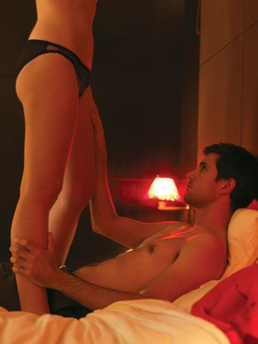 <p>Thighs and knees are two especially sensitive spots – and their proximity to the genitals makes them one of the sexiest areas for foreplay. Breathe gently on his inner thighs, as you kiss and caress this hidden sweet spot. The key to maximising pleasure in this area is to listen to his body and watch his response to see what touch is the most electrifying. </p>