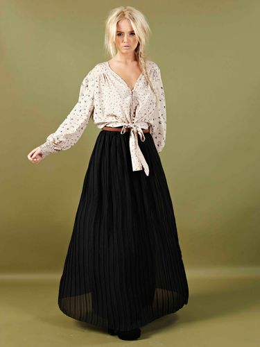 """<p>Part of boohoo's country girl collection, this blouse is in our must-have list. Team with a sheer maxi skirt, or jeans and your good to go</p>  <p>Sally Blouse £18, <a href=""""http://www.boohoo.com/collections/70s-country-girl/icat/70scountrygirl/""""target=""""_blank"""">boohoo.com</a></p>"""