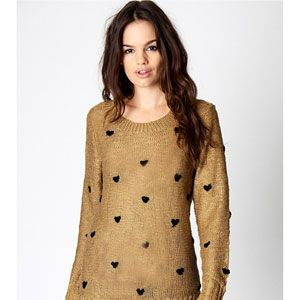 """<p>Knits are slowly creeping into our agenda as the weather cools down. We'll start off our collection with this heartfelt number. Super Cute!</p><p>25,<a href="""" http://www.boohoo.com/new-in/abbey-heart-print-jumper/invt/azz73407"""" target=""""_blank""""> boohoo.com </a></p>"""