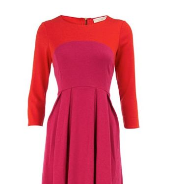 """<p>Don't be afraid to stand out against the miserable grey weather, try this Limited Edition pink and orange dress fromDorothy Perkins. The colour is sure to put a smile on your face whatever the weather and with three quarter length sleeves it will keep you warm too</p><p>£30, <a href=""""http://www.dorothyperkins.com/webapp/wcs/stores/servlet/ProductDisplay?beginIndex=0&viewAllFlag=&catalogId=33053&storeId=12552&productId=2666296&langId=-1&sort_field=Relevance&categoryId=208614&parent_categoryId=208596&pageSize=20"""" target=""""_blank""""> dorothyperkins.com </a></p>"""