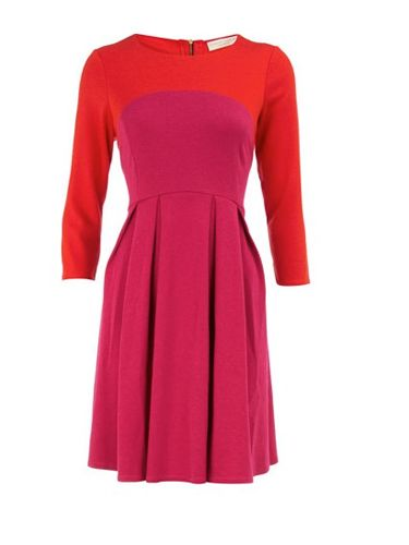 "<p>Don't be afraid to stand out against the miserable grey weather, try this Limited Edition pink and orange dress fromDorothy Perkins. The colour is sure to put a smile on your face whatever the weather and with three quarter length sleeves it will keep you warm too</p><p>£30, <a href=""http://www.dorothyperkins.com/webapp/wcs/stores/servlet/ProductDisplay?beginIndex=0&viewAllFlag=&catalogId=33053&storeId=12552&productId=2666296&langId=-1&sort_field=Relevance&categoryId=208614&parent_categoryId=208596&pageSize=20"" target=""_blank""> dorothyperkins.com </a></p>"