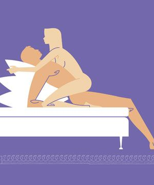 <p>Samantha loves to be in control, so try this girl-on-top move - guaranteed to have him surrendering to your bedroom prowess.<strong><br /><br />MAGIC MOVE: ON-THE-EDGE</strong><br />STEP 1: Sit your man on the edge of the bed, with his legs dangling freely.<br />STEP 2: With your hands on his shoulders, lean him onto a stack of pillows.<br />STEP 3: Kneel astride his hips and lower yourself on to him<br />STEP 4: Hold the pillows behind his head for added leverage and support.<br /></p>