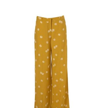 "<p>Keep on trend with these mustard wide leg trousers. With the cute daisy print everyone will want to get their hands on a pair</p><p>£45, <a href=""  http://www.topshop.com/webapp/wcs/stores/servlet/ProductDisplay?beginIndex=0&viewAllFlag=&catalogId=33057&storeId=12556&productId=2515784&langId=-1&categoryId=&searchTerm=mustard&pageSize=20
